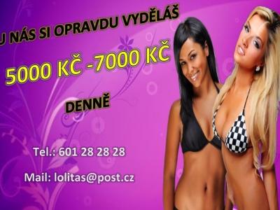 50 000 Kč týdně,zaručeně,diskrétně v Praze !