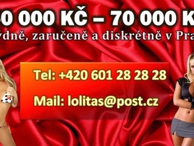 Min.50 000 Kč týdně,zaručeně,diskrétně v Praze !